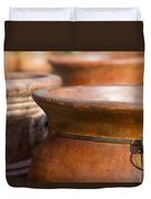 Terracotta Mexican Pottery Duvet Cover