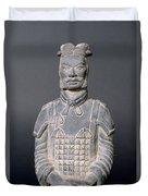 Terracotta Warrior Soldier Duvet Cover