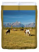 Teton Horses Duvet Cover