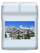 Teton Winter Landscape Duvet Cover