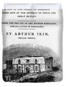 Texas: Guidebook, 1841 Duvet Cover