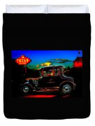 Texas Hot Rod Duvet Cover