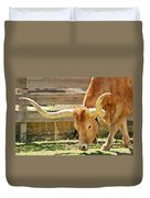 Texas Longhorns - A Genetic Gold Mine Duvet Cover by Christine Till