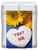 Text Me Duvet Cover