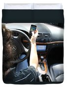 Texting And Driving Duvet Cover