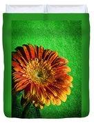 Textured Orange Flower Duvet Cover