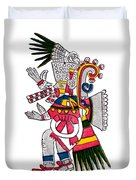 Tezcatlipoca, Aztec God Of Night, Codex Duvet Cover by Photo Researchers