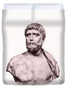 Thales, Ancient Greek Philosopher Duvet Cover by Photo Researchers