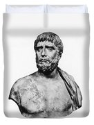Thales, Ancient Greek Philosopher Duvet Cover by Science Source