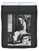 Thales Of Miletus, Greek Polymath Duvet Cover by Science Source