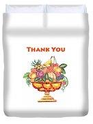 Thank You Card Fruit Vase Duvet Cover