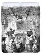 Thanksgiving, 1855 Duvet Cover