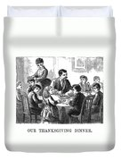 Thanksgiving Dinner, 1873 Duvet Cover