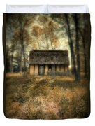 Thatched Roof Cottage In The Woods Duvet Cover