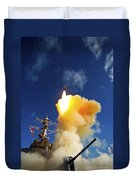 The Aegis-class Destroyer Uss Hopper Duvet Cover