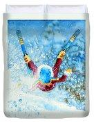 The Aerial Skier - 14 Duvet Cover by Hanne Lore Koehler