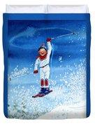 The Aerial Skier 15 Duvet Cover