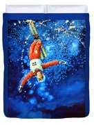 The Aerial Skier 20 Duvet Cover