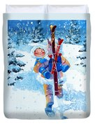 The Aerial Skier - 3 Duvet Cover