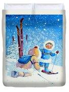 The Aerial Skier - 5 Duvet Cover by Hanne Lore Koehler