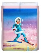 The Aerial Skier - 8 Duvet Cover