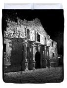 The Alamo At Night Duvet Cover