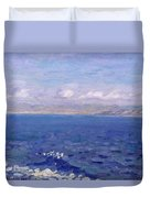 The Albanian Sea Duvet Cover