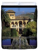 The Alhambra Palace Of The Partal Duvet Cover