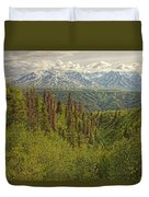 The Alsek Mountains Along The Haines Duvet Cover