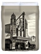 The Ambler Theater In Sepia Duvet Cover