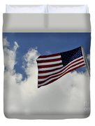 The American Flag Blowing In The Breeze Duvet Cover