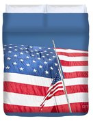 The American Flag Hangs Duvet Cover