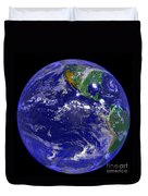 The Americas And Hurricane Andrew Duvet Cover by Stocktrek Images