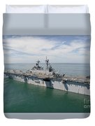 The Amphibious Assault Ship Uss Wasp Duvet Cover