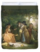 The Angler's Repast  Duvet Cover by George Morland