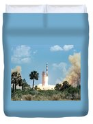 The Apollo 16 Space Vehicle Is Launched Duvet Cover