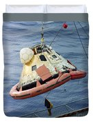 The Apollo 8 Capsule Being Hoisted Duvet Cover