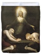 The Appearance Of Christ At Emmaus Duvet Cover