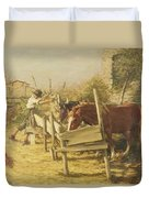 The Appian Way Duvet Cover by Henry Herbert La Thangue