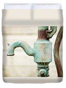 The Aqua Pump Duvet Cover