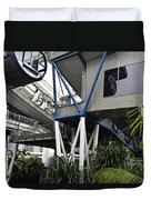 The Area Below The Capsules Of The Singapore Flyer Duvet Cover