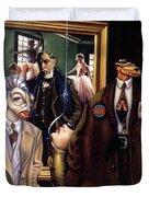 The Art Critic Duvet Cover