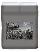 The Attack Of The Zombie Tourists Duvet Cover