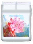 The Aura Of A Peach Blossom Duvet Cover