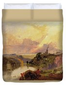 The Avon Gorge At Sunset  Duvet Cover by Francis Danby