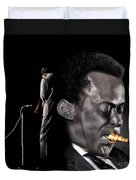 The Back And The Affront Of Miles Davis Duvet Cover