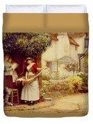The Ballad Seller Duvet Cover