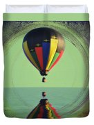 The Balloon And The Sea Duvet Cover