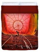 The Balloonist - Inside A Hot Air Balloon Duvet Cover