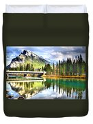 The Banff Bridge Duvet Cover